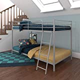 DHP Junior Twin, Low Bed for Kids, Silver Bunk