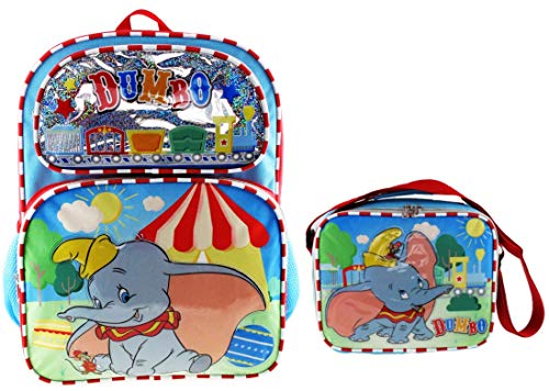 Dumbo 16 inch Backpack with Matching Insulated Lunch Tote