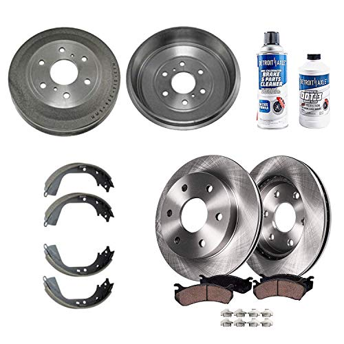 Detroit Axle - All (4) Front Disc Rotors and Rear...