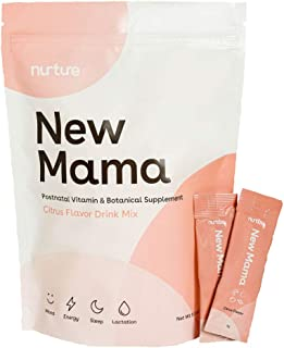New Mama Postnatal Vitamins, Postpartum Supplement | Support Lactation + Mood + Enery + Sleep | Complete Vitamin, Mineral ...