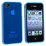 Generic Plain TPU Rubber Case Cover for Apple iPhone 4/4s - Non-Retail Packaging - Royal Blue