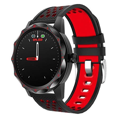 HQPCAHL Smartwatch, Reloj Inteligente Impermeable IP68 con Monitor De Sueño Pulsómetros, Pulsera De Actividad Inteligente para Hombre Mujer con iOS Y Android,Rojo