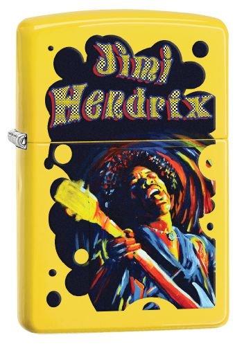 Zippo Feuerzeug 60002656 PL Jimi Hendrix Benzinfeuerzeug, Messing, Lemon, 1 x 3,5 x 5,5 cm