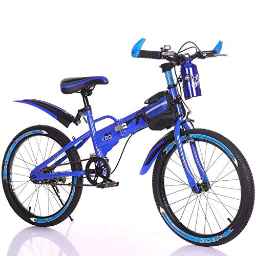 MAZGLXS Bicicleta de montaña de los niños 20 pulgadas de 6 velocidades Doble la bicicleta de la montaña BMX BMX Ajustable Altura de la altura de los niños para las niñas y los niños regalos con la bol