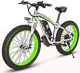 MQJ Bicicleta de Nieve de 26 Pulgadas de 26 Pulgadas, Bicicleta de Montaña Eléctrica de 48V 1000W, 17.5Ah Ciclomotor de Litio, 4.0 Bicicleta de Neumáticos de 4,0 / Bicicleta de Cola Dura/para Adult