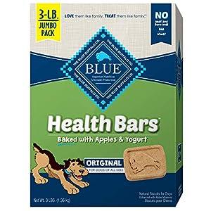 Blue Buffalo Health Bars Natural Crunchy Dog Treats Biscuits Apple & Yogurt 48-oz box