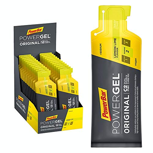 PowerBar PowerGel Original Lemon Lime 24x41g - High Carb Energie Gel + C2MAX + Natrium