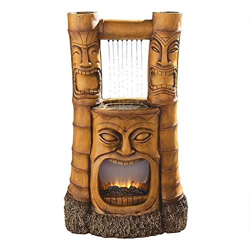 Outdoor Living and Style 38' The God of Fire Tiki Water Fountain