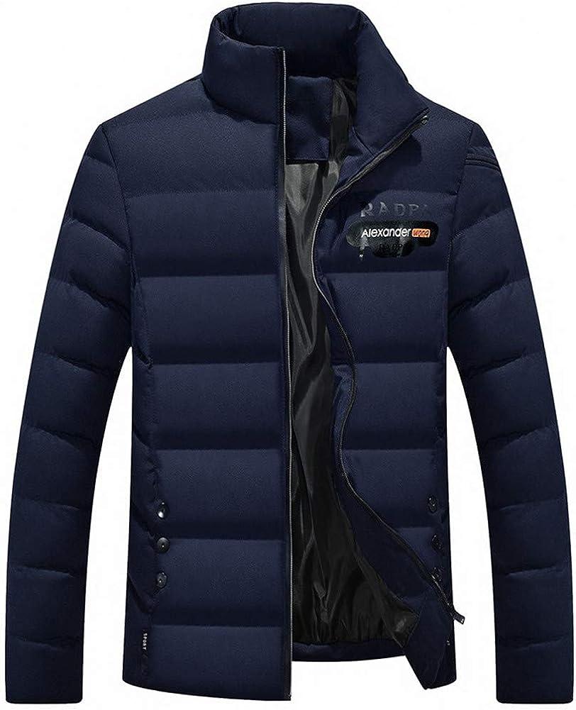 EFFIE Men's Winter Thick Cotton Slim Short Jacket (Blue, XL)