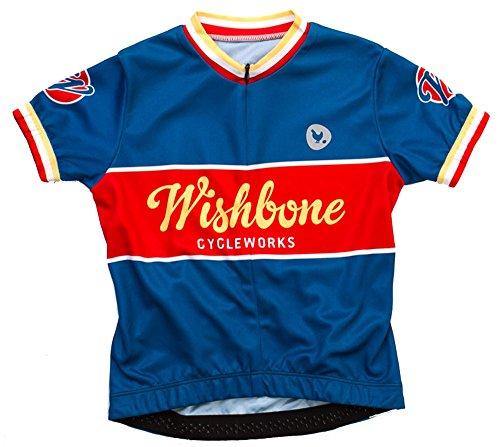 Wishbone - kinderfiets shirt, maat L Large blauw