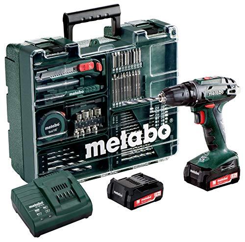 Metabo 60220688 Akkuschrauber BS 14.4 Set 14.4 V, 2x 2Ah Li-Ion Akkus, inkl. Ladegerät, im Kunststoffkoffer
