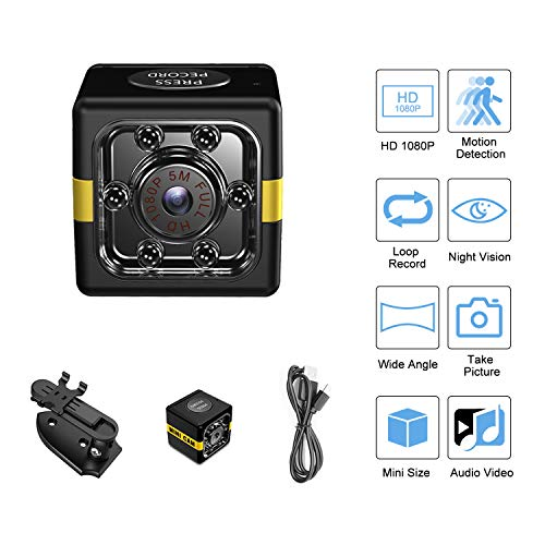 1080P Mini Spy Camera Hidden Camera Home Security Camera with Audio and Video Recording, Night Vision Motion Detection, Nanny Cam Baby Monitor Small Indoor/Outdoor Camera Surveillance Camera