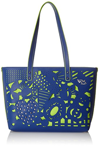 BRACCIALINI TUA Summer, Bolso tipo tote para Mujer, turquesa, 42x28x12 cm (W x H x L)