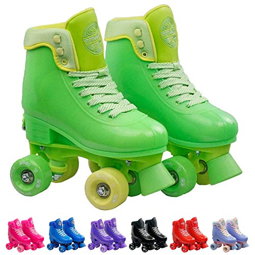Image of Infinity Skates Adjustable Roller Skates for Girls and Boys - Soda Pop Series (Lime Green/Medium)