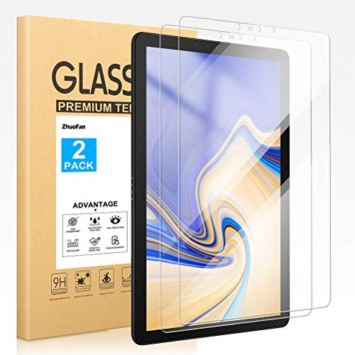 ZhuoFan Screen Protector for Samsung Galaxy Tab S4 10.5, Tempered-Glass Flim Screen Protector Compatible Samsung Galaxy Tab S4 10.5 Premium quality, [Pack 2x]