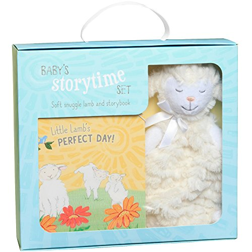 C.R. Gibson Little Lamb's Perfect Day Board Book and Stuffed Animal Set for Newborns and Babies