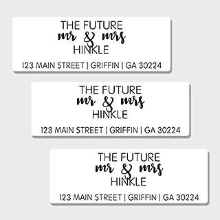 60 Personalized Future Mr & Mrs Return Address Labels - Save the Date Return Address Labels (AL1)