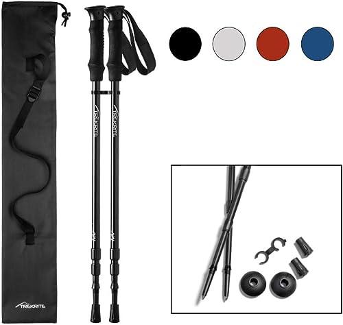 UK 3-Section 51cm Antishock Trekking Walking Hiking Stick Pole Good quality