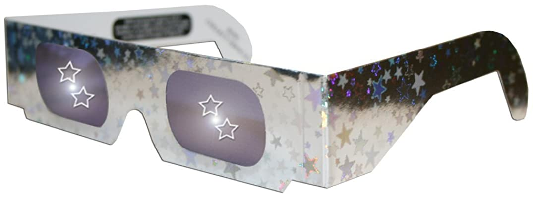 Five Point Star Happy Eyes Holographic Lens Glasses - See a Star at Every Point of Light