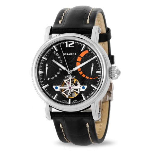 Tempo libero meccanico automatico orologio da polso impermeabile in vera...