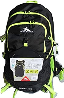 High Sierra 28 Liter Front-Loading Frame Pack - OMAK 28 Urban/Trail Hiking (Hydration Access Ready) (Black/Yellow) [並行輸入品]