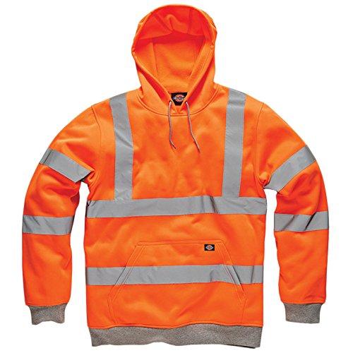 Dickies Hi VIS Hoodie High Visibility Hooded Sweatshirt Safety Work Hoody Jacket