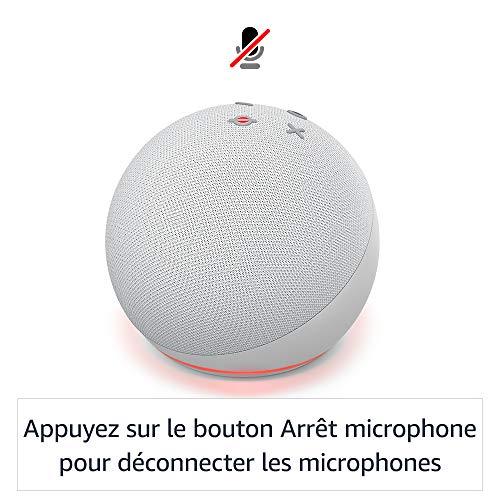 Echo Dot (4e génération), Enceinte connectée avec Alexa, Blanc