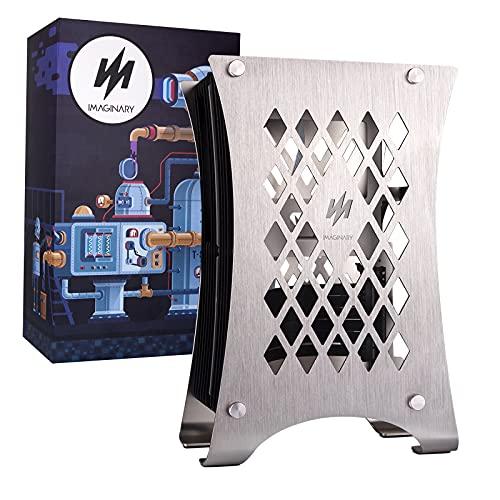 SERBVN Carcasa para PC Mini-ITX, aleación de aluminio, 3 ranuras GPU, 360 enfriador de agua, fuente de alimentación ATX