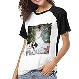 Yuanmeiju Camiseta para Mujer,Camisa Norah Jones The Fall Womens Manga Corta Raglán Baseball T Shirts Black