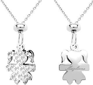 Catenina e ciondolo My Bebè maschietto o femminuccia in argento 925 personalizzabile con nome