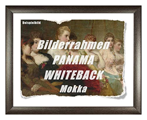 Homedecoration Bilderrahmen Panama Whiteback 40 x 43 cm Mokka mit weißer Rückwand und Acrylglas Antireflex 1 mmm