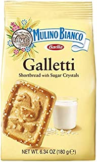 Mulino Bianco Galletti Shortbread Biscuits With Sugar Crystals (Pack of 3)