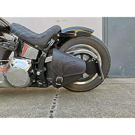 Leder Satteltasche Schwingentasche Für Harley Davidson Softail 2018 2020 Low Rider S Fat Bob Fat Boy Street Bob Low Rider Slim Breakout Made In Italy Endscuoio Schwarz Stiche Auto