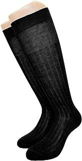 Best Calze, 6 pares de calcetines largos acanalados para hombre, de algodón hilo de Escocia, modelo Sistro, negro, talla 42/44