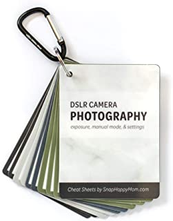 DSLR Cheat Sheet Cards for Canon, Nikon and Sony Cameras - Plastic Quick Reference Photography Cards | Camera Settings, Ex...