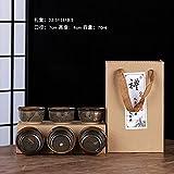 Ksnrang Horno de té de cerámica Horno de Regalo Monocker Productos de Horno Taza Taza Propietario de la casa Publicidad Igogo Personalizada - Caja de Regalo Taza de Boca antitaladro