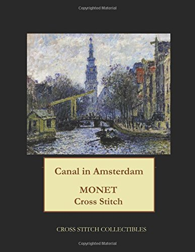 Canal in Amsterdam: Monet cross stitch pattern