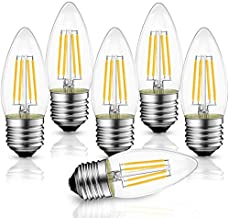 Best B11 4W LED Filament Bulb E26 Candelabra Base, WJDH Dimmable 40Watt Equivalent 3000K Soft White Chandelier Decorative Candle Light Bulb, Pack of 6 Review
