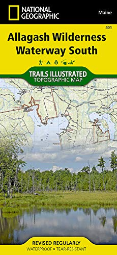 Allagash Wilderness Waterway South (National Geographic Trails Illustrated Map (401)) -  National Geographic Maps