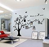 Colour negro Pegatina de la etiqueta PVC enormes marco de fotos memoria árbol Vine rama extraíble adhesivo decorativo para pared adhesivo 200 cm (H) (al máximo de tu conducción)