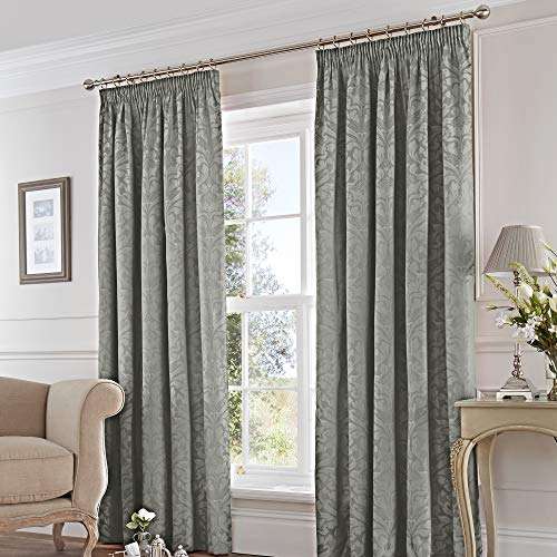 Fusion - Eastbourne - Ready Made Pair of Pencil Pleat Curtains - 46' Width...