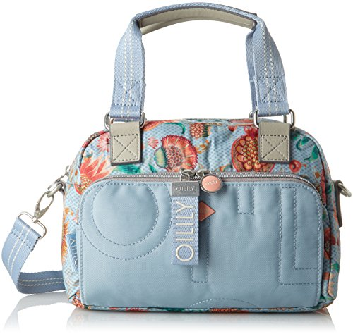 Oilily Damen Charm Sunflower Handbag Shz 1 Henkeltasche, Blau (Light Blue), 16x20x28 cm
