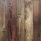"""Wood Peel and Stick Film Vintage Wood Panel Wallpaper Self Adhesive Removable Wall Covering Decorative Faux Distressed Wood Plank Wooden Grain Vinyl Decal Roll 78.7""""x17.7'"""