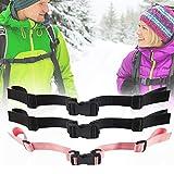 3 correas ajustables para el pecho para mochilas y mochilas escolares, correas ajustables para el pecho, resistentes y duraderas, adecuadas para correr, senderismo y montañismo (negro, rosa).