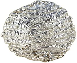 Arda Romos 5-1/2-Inch Side Plate, Silver Plated, Set of 4 by Arda Glassware
