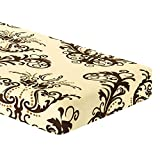 TIKAMI Stretch Cushion Cover Printed Cushion Slipcover Replacement Furniture Protector for Sofa Cushion 3 Seater(Coffee)
