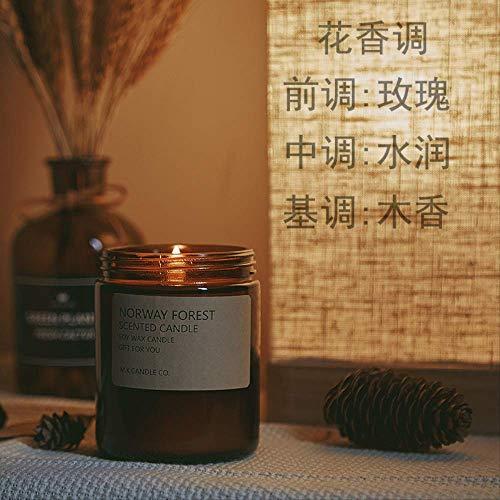La Vela Perfumada De Soja Alivia El Sueño Y Purifica La Decoración Duradera del Interior del Hogar del Dormitorio De Aire 7 * 9 Cm Rosa Blanca rumana