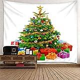 KnBoB Tapiz Pared Decorativo Árbol de Navidad y Regalos 300 x...