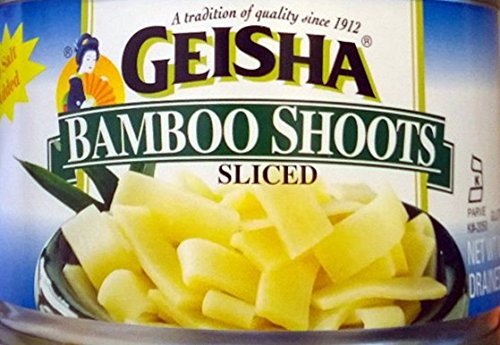 Geisha Sliced Bamboo Shoots (Pack of 4) 8 oz Cans