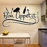 Encantador texto de cocina pegatinas de pared a prueba de agua pegatina de pared...